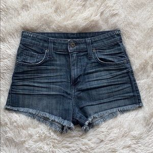 Carmar denim high-waisted shorts